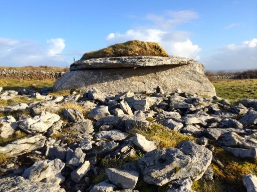Parknabinnia wedge tomb in Co Clare